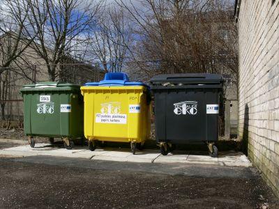 Atkritumu šķirošanas konteineri